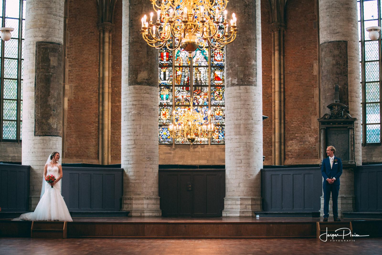 Trouwfotograaf Pieterskerk Leiden